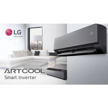 lg art cool slim 3 5kw 12000btu air conditioning heat pump. Black Bedroom Furniture Sets. Home Design Ideas